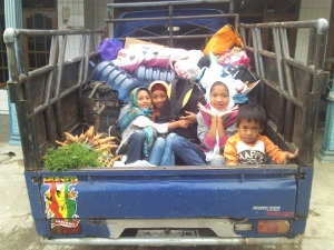 foto anak-anak sebelum pulang kejogja