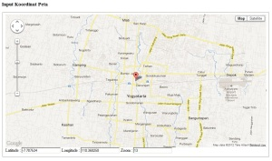 input koordinat peta google map dengan cara geser marker