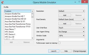 opera mobile emulator - device