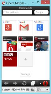 opera mobile emulator - screenshot
